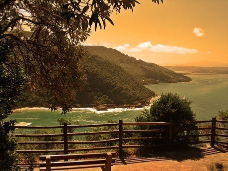'Knysna Heads Viewing Deck' by André  Pillay on artflakes.com as poster or art print $16.63  #art  #photography  #southafrica