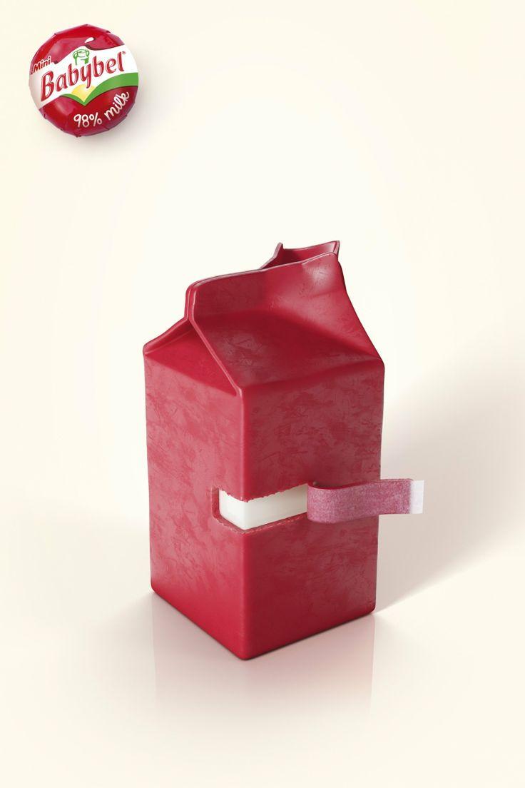 BABYBEL Werbung - Babybel - 98% milk. #advertising #print #adOSBORN CHECKLISTENr. 1 Verändere die Form