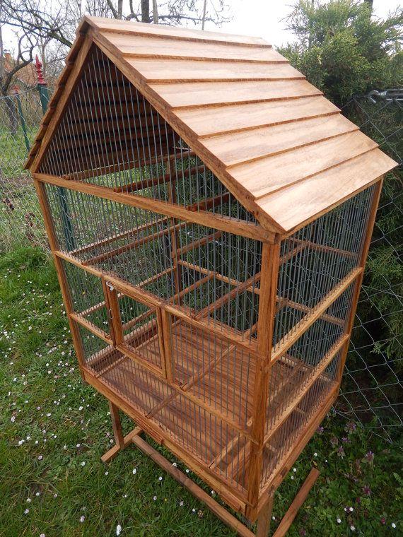 Bird Cage Wooden Handmade Bird cage, Cage, Birds