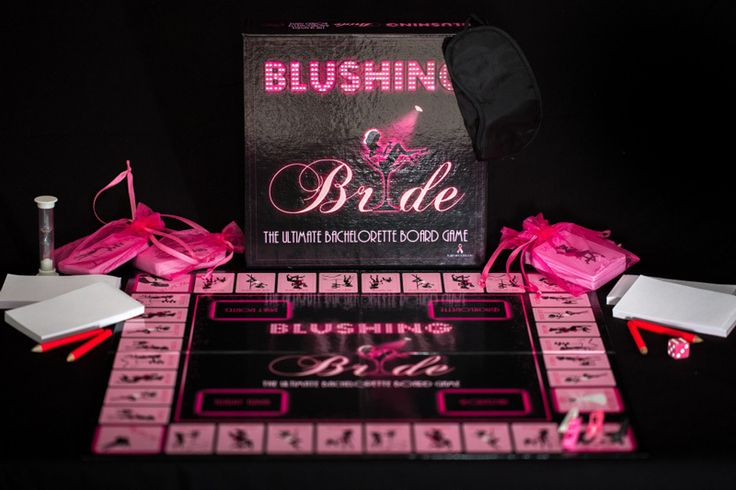 #Blushing #Bride #bachelorette #BoardGame $23 Blushing Bride will have your gals roaring of laughter at every turn as they perform, sketch, & answer questions pertaining to the vision in white on her last night out. From #innocent facts to #scandalous acts, this shameless board game leaves nothing to the #imagination! It's #Cranium, #Catchphrase, & #Monopoly combined & gone #bachelorette. (http://www.dallasnovelty.com/blushing-bride-board-game/)