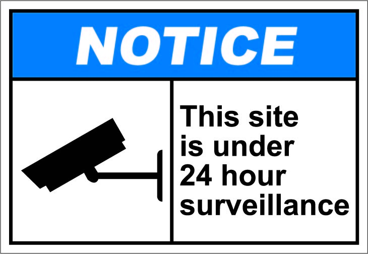 This site is under 24 hour surveillance $1.64 #signs | ANSI Safety ...