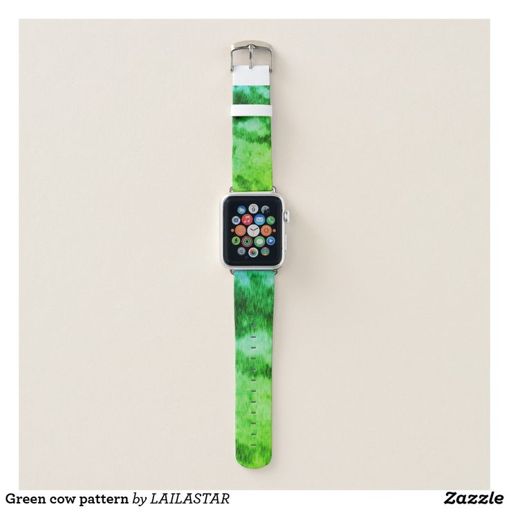 Grünes Kuhmuster Apple Watch Armband
