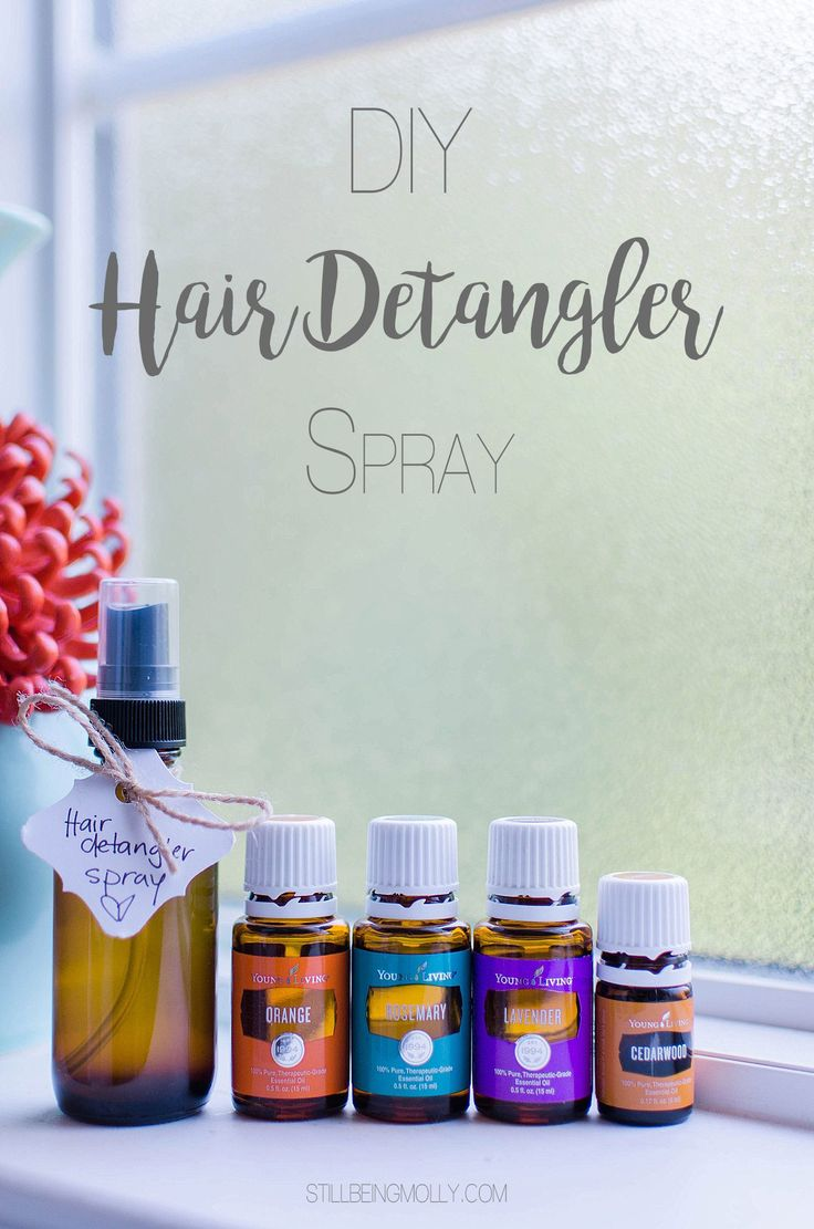 DIY Hair Detangler & Curling Spray with Essential Oils