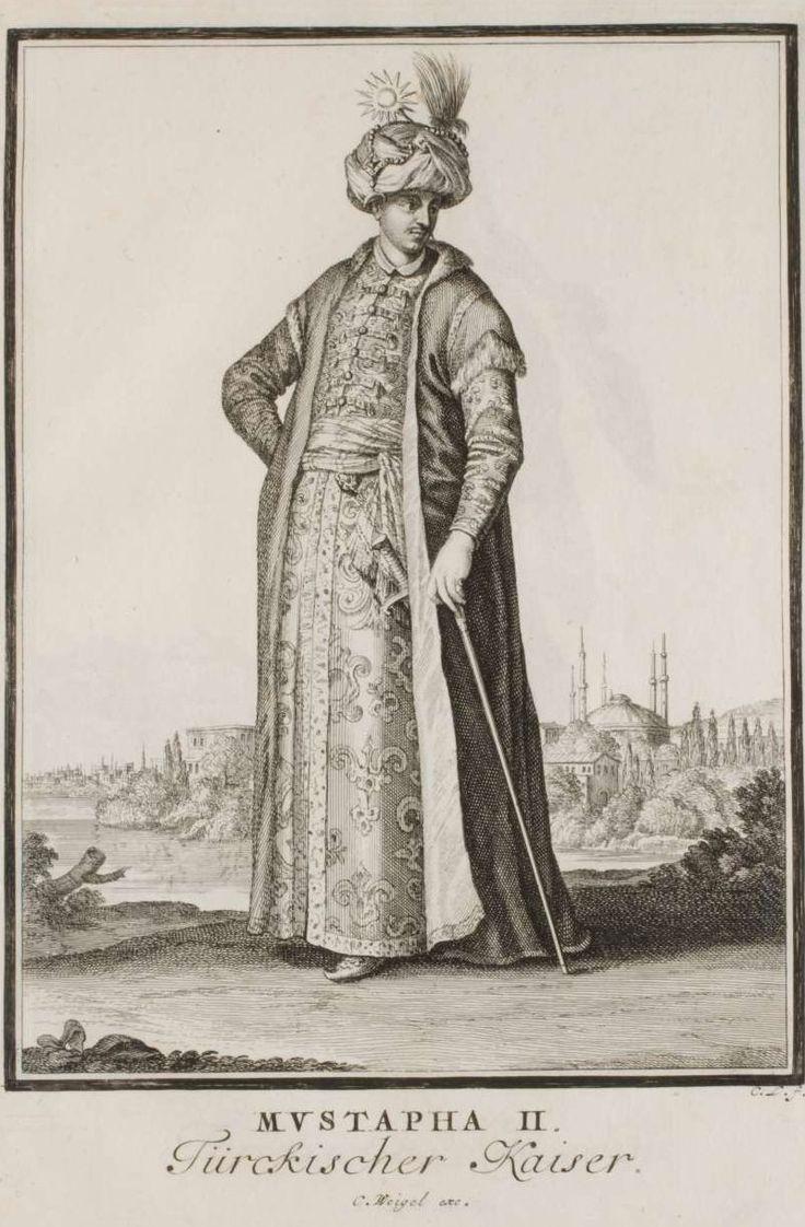"74 Mustapha II, Ottoman Sultan. Abraham a Sancta Clara's ""Neu-eröffnete Welt-Galleria"", 1702. Prints after Caspar Luyken"