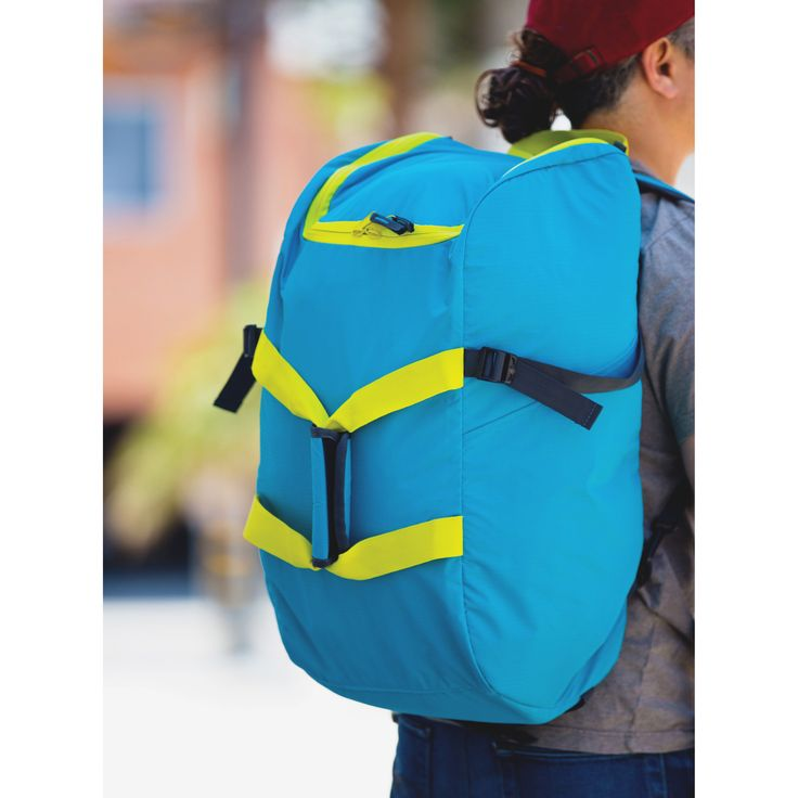 """Dbest Smart Travel/Luggage Case (Rolling Backpack) for 17"""" Notebook, Travel Essential-Blue, Yellow 