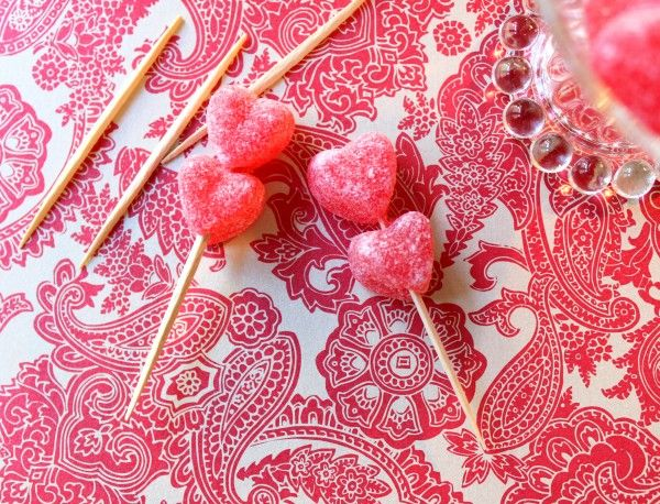 Valentine's Day Party Trick :: candied treat toppers