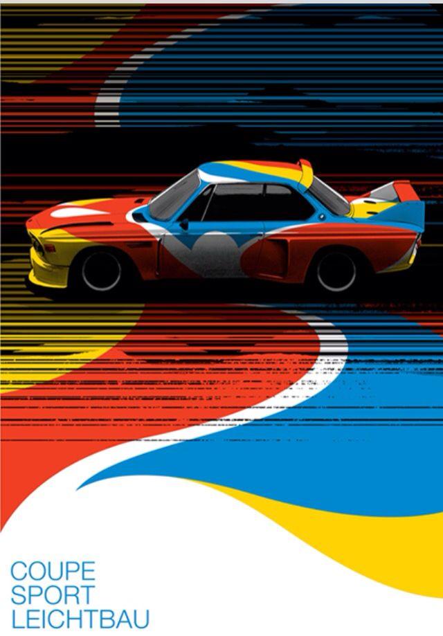 BMW 3.0CSL una joya | Calder, gran, gran Artista | resultado un coche hecho arte | la ilustración poster | Arte sobre el arte Para saber más sobre los coches no olvides visitar marcasdecoches.org