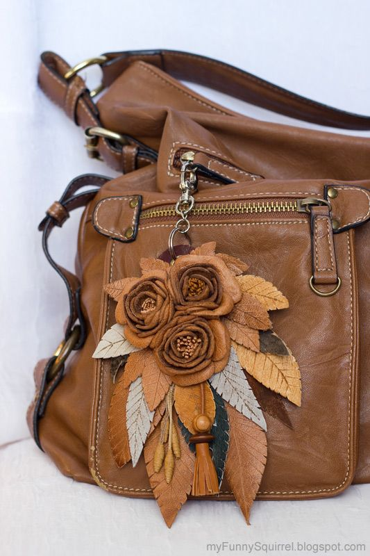 Funny squirrel - Teddy bears & friends: Цветы из кожи - Leather flowers tutorial