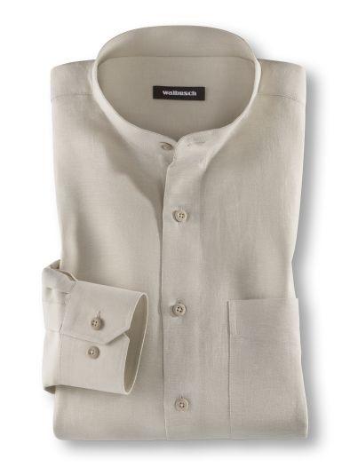 Stehkragen-Leinenhemd direkt hier kaufen | Walbusch
