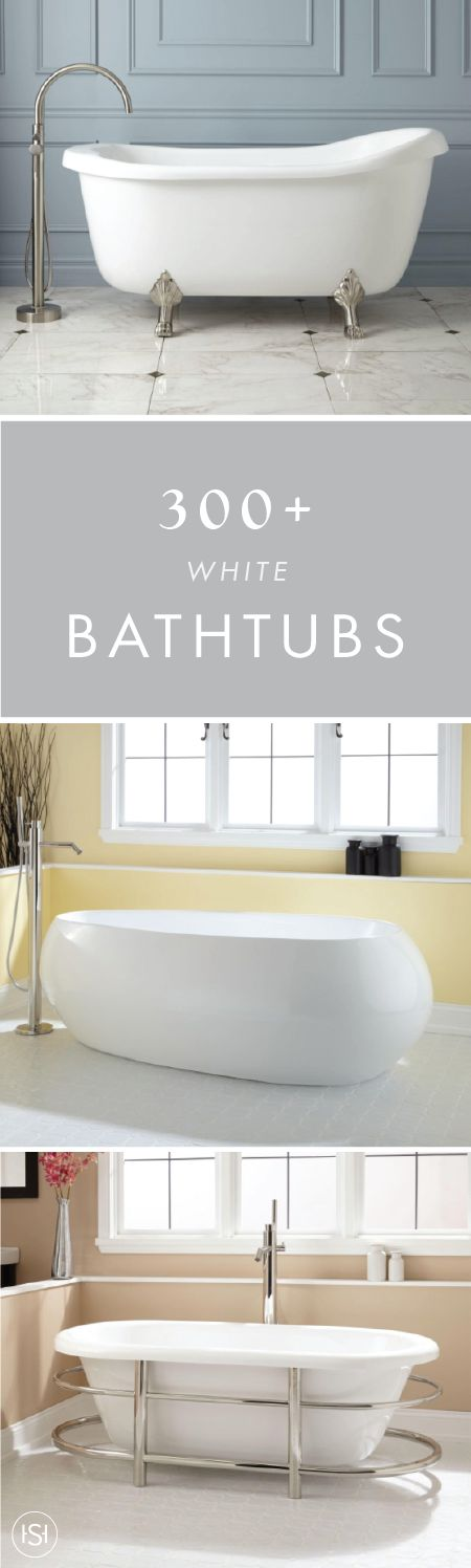 One thing's for sure, spa-like comfort awaits you with a Signature Hardware tub. From freestanding to clawfoot designs, the classic color scheme of these 300+ White Bathtubs will be the focal point of your master bath.