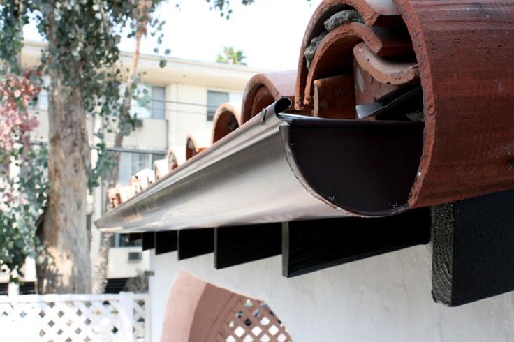 Installing Metal Roof Gutters gutters Pinterest Home