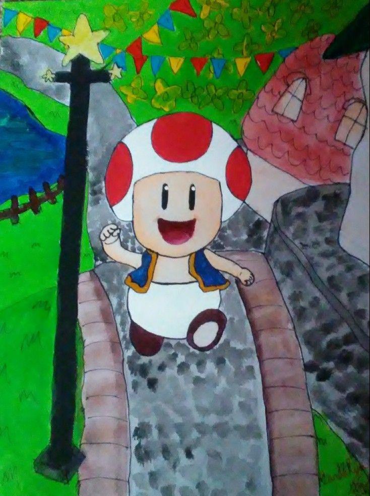 Toad In Mushroom Kingdom Cool Wallpaper Artwork Wallpaper