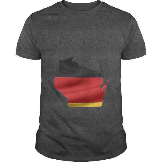 Cool Germany German Wisconsin Flag Shirts & Tees