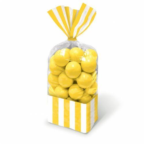 yellow stripe cello sweet bags http://www.wfdenny.co.uk/p/yellow-striped-sweet-bags/3572/