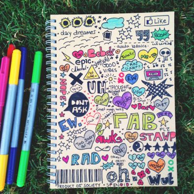 Tumblr-inspired notebook