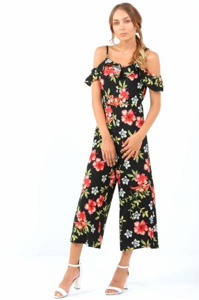 995e3f8d004d6 #Tulum Fırfır Omuz İp Askı Çiçek Desen Siyah Tulum #Kombin #Toptan #Mağaza # Moda #Stil #abiye #Gunluk #Cool #Spor #Kadın #Şık #Style #Gotik #Kız ...