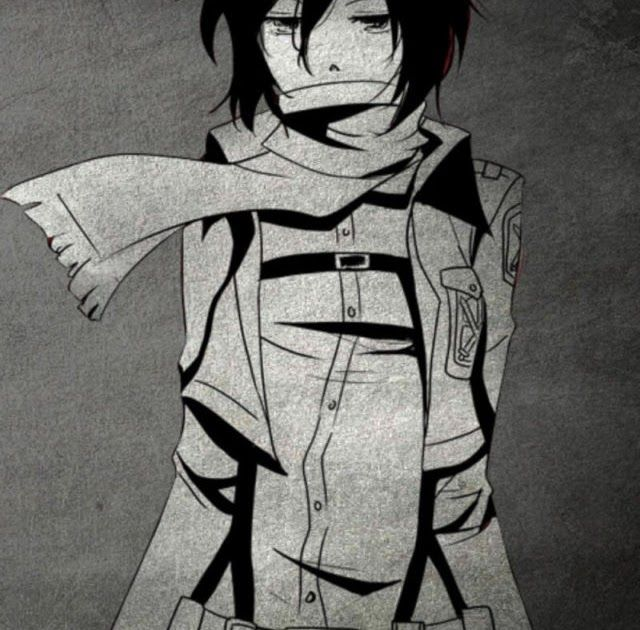 Anime Black And White Wallpaper
