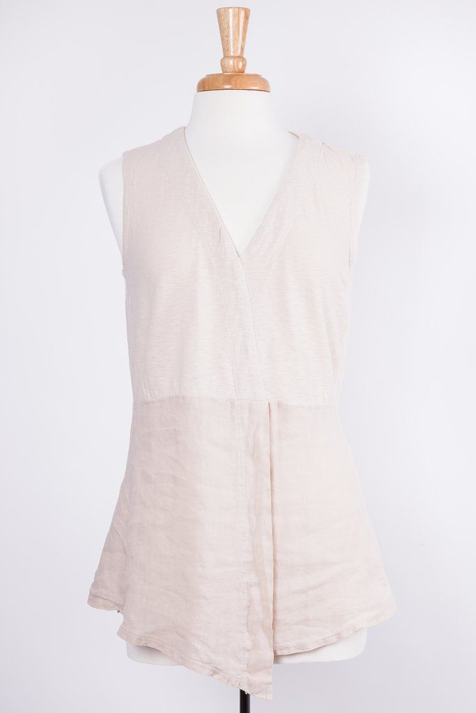 Cut Loose Wrap Linen Tank in Vanilla | Cut Loose clothing | Women's Clothing | fashion