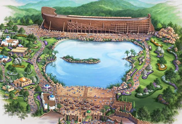 The Ark Encounter is a Bible themed park being built in Petersburg, Kentucky. It's sponsored by the same group that built the creation museum! I want to go there too!