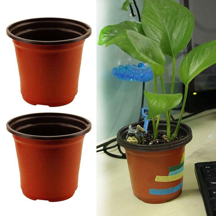 10/20 Pcs Flower Pots Flowerpot Garden Unbreakable Plastic Pots Decor Hot Sell