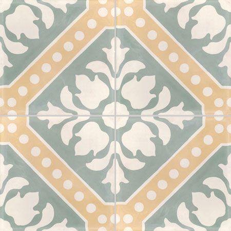 Carreaux de ciment - décors 4 carreaux - Carreau CE 02 - Couleurs & Matières