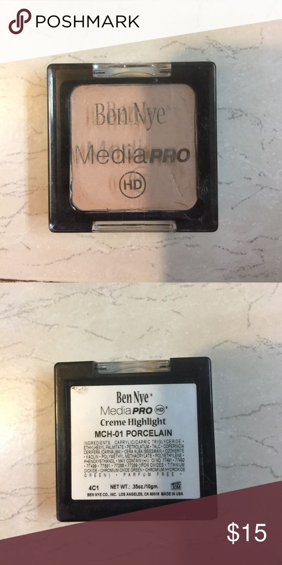 Ben Nye media Pro cream highlight HD Ben Nye, this make up pro line goes back to Marylin Monroe days her favorite line on set . This is a cream concealer HD . Meaning full coverage . Great for your kit.        I have these in 3 shades MCH-01 (Porcelain) MCH-05 (Ivory) MCH-03 (Ultra Light) 15 each BenNye Makeup Concealer