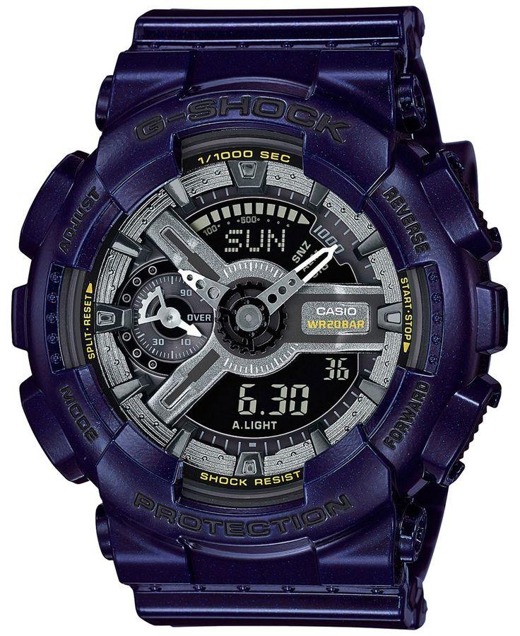 G-Shock Women's Analog-Digital S-Series Blue Resin Strap Watch 46x49mm GMAS110MC-2A