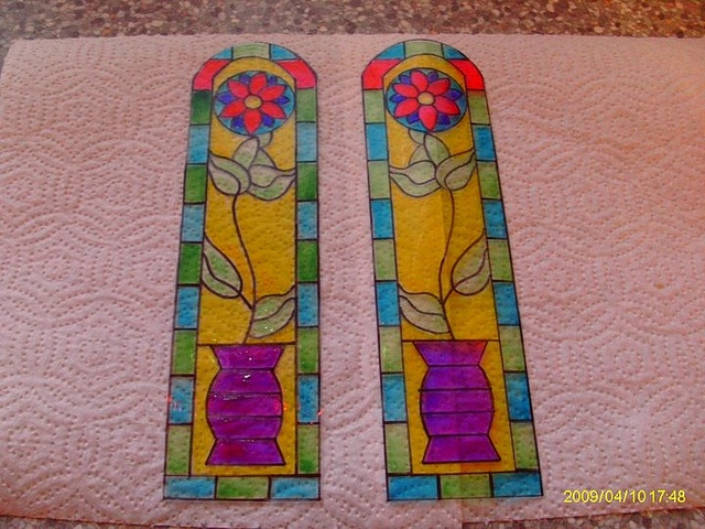The stained glass before being shrunk by Sweetbriar Dreams, via Flickr