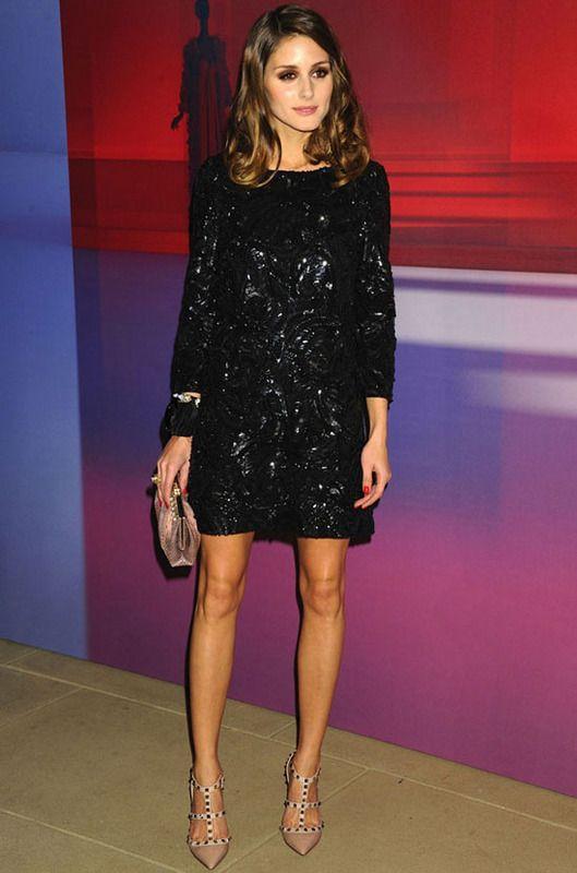 Olivia Palermo con Little black dress de lentejuelas