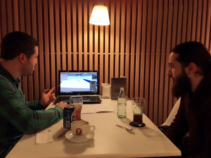 #VIRTUALREALITY ·  Meeting yesterday with Álvaro, our Chief VR Architect, together with Edgar, our CIO.  Mapping out great #VR projects for 2017!