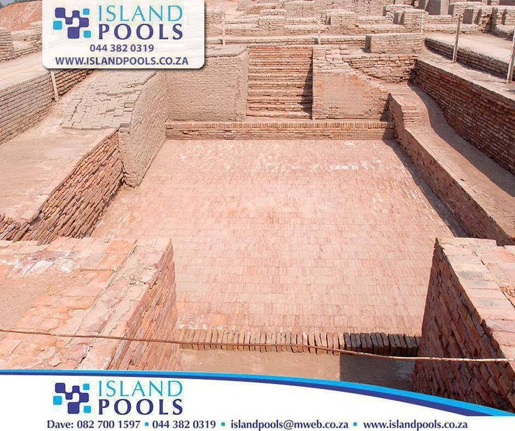 """#ThrowbackThursday: The """"Great Bath"""" at the site of Mohenjo-Daro in modern-day Pakistan was most likely the first swimming pool dug during the 3rd millennium BC. This pool is 12 by 7 metres, is lined with bricks, and was covered with a tar-based sealant. #IslandPools"""