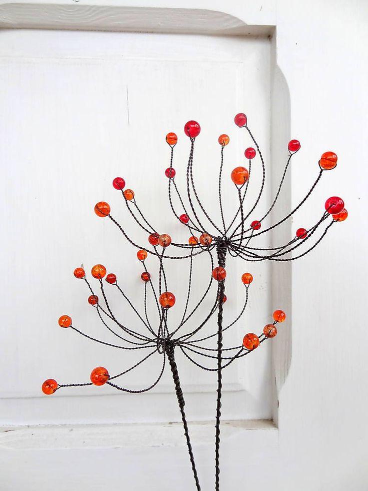 Dekorácie - kvet-púpavy jesene...zápich-sada - 5908155_