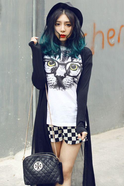 teal blue green hair - Pinky (Wang Yan Pinky)