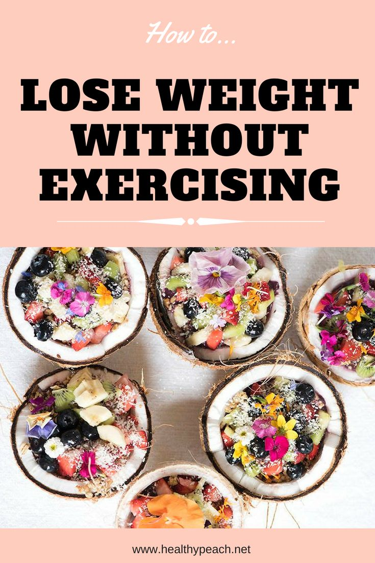 Shedding kg's without exercise - YES its possible!