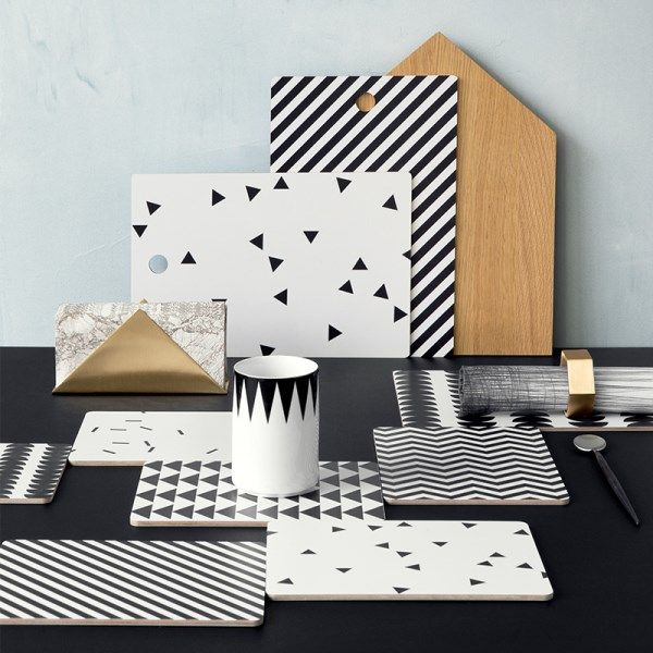 Geometric kitchen accessories from ferm LIVING