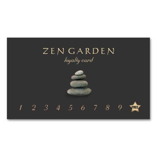 Zen Stones Massage Therapist Loyalty Punch Card Market Me Card