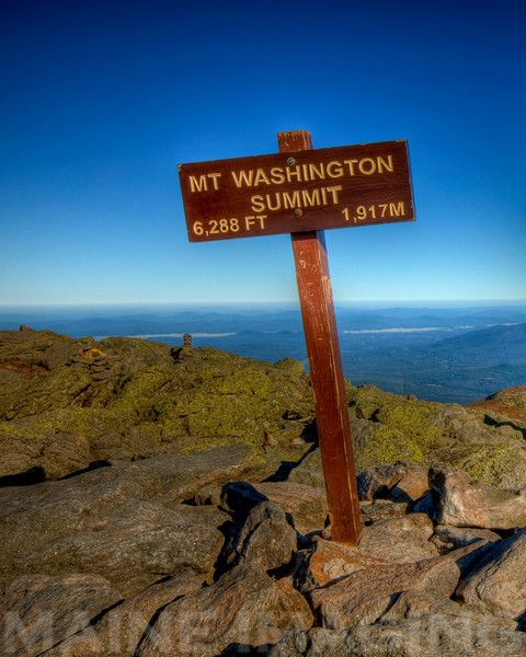 """Top of Mount Washington, New Hampshire, USA. The """"windiest place on earth""""."""