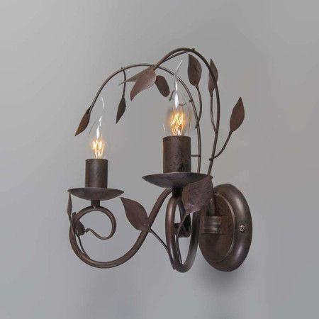 Lampa ścienna Ramoscelli 2 rdza