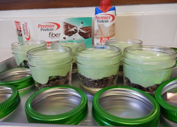 Premiere Protein Grasshopper Pie Pudding Jars