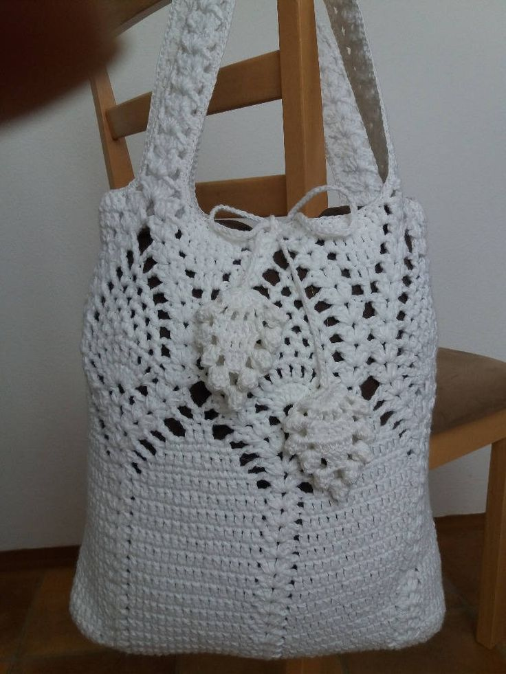 Crochet bag pattern, By Emmhouse, Pineapple bag crochet pattern, Market bag, pdf download crochet bag pattern, Easy crochet bag patterns by Emmhouse on Etsy