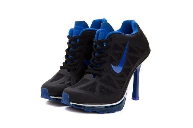 Nike Air Max 95 High Heels Womens Black Blue
