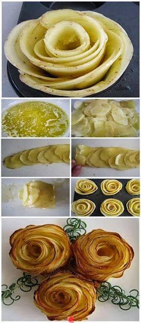 Kartoffelröschen in der Muffinform