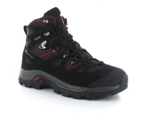 Salomon – Discovery Women's GTX – #Dameswandelschoen - Deze zwarte dameswandelschoen van #Salomon is een hoge schoen gemaakt van duurzaam leer. De OrthoLite® inlegzool combineert een specifiek Ortholite® schuim en een EVA hiel. GORE-TEX® zorgt voor comfort en bescherming in deze lichte, stabiele wandelschoen. #Wandelschoenen #Dameswandelschoen #Dameswandelschoenen