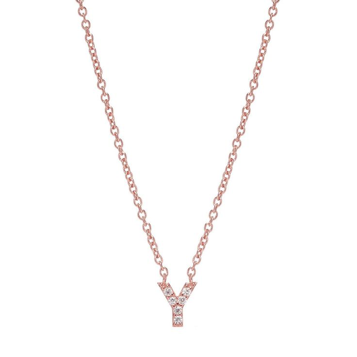 INITIAL NECKLACE ROSE GOLD
