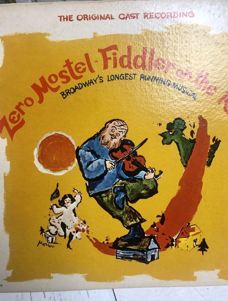 Fiddler On The Roof Broadway Soundtrack.... Vinyl LP