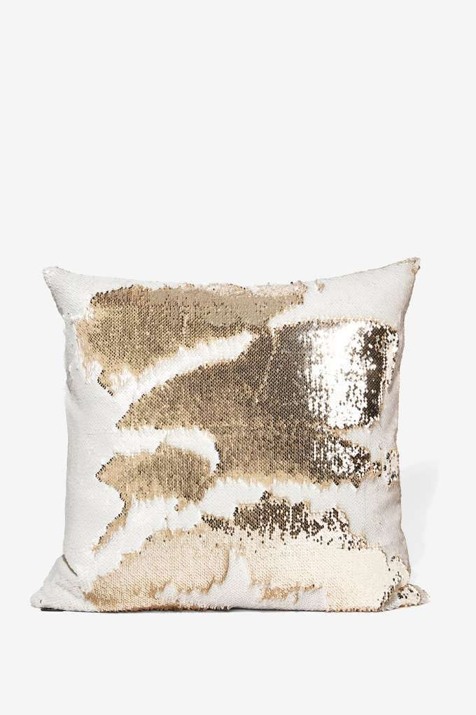 Aviva Stanoff Champagne Mermaid Sequin Pillow - All Things Glitter | All | Sequins & Glitter