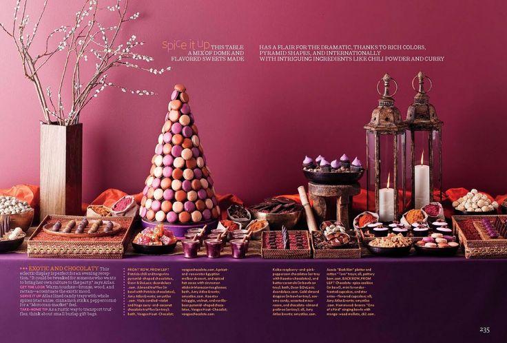 Brides magazine part i spiced chocolate dessert table - Tables roulantes dessertes ...