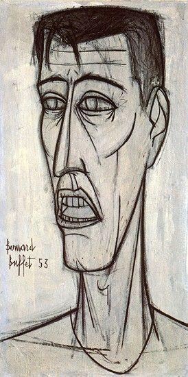 Bernard Buffet (Selfportrait, 1953)