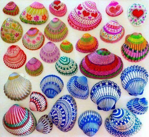 Pintura en conchas