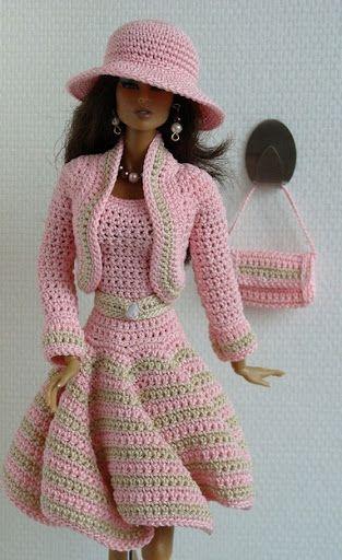 Crocheart: Roupa para boneca barbie